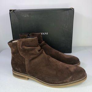 Alfani Arlen Suede Ankle Chelsea Side Zip Boots